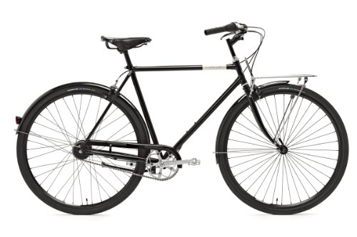 Creme Herren Citybike Caferacer Men Doppio - 7 Speed - Dynamo, Black, Rahmenhöhe: 59 cm, Reifengröße: 28 Zoll (71 cm), BI-CRE-3107_59_1