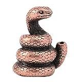 B Blesiya Ornamento del Supporto del Bastone di Incenso della Figurina di Rame dello Zodiaco Cinese degli Animali - Serpente