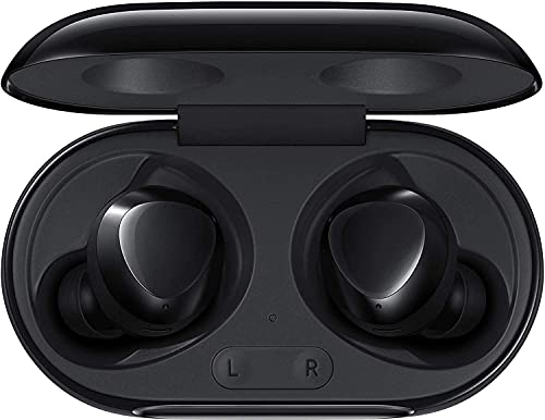 Samsung Galaxy Buds+ Plus 2020-11+ Hour Extended Battery, Triple Mic's (Wireless Charging Case Included) International Version R175N (Buds + Fast Wireless Charging Pad Bundle, Cosmic Black)