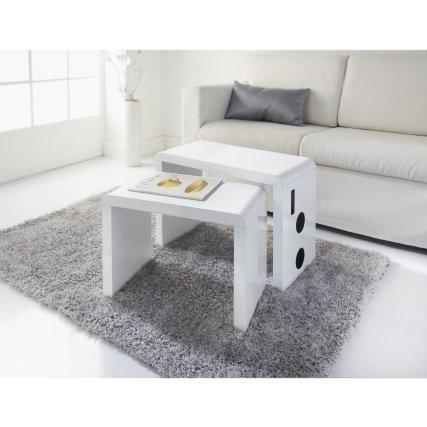 ChoicefullBargain Skye connettività Bluetooth e Altoparlanti tavolini da Salotto 2PK