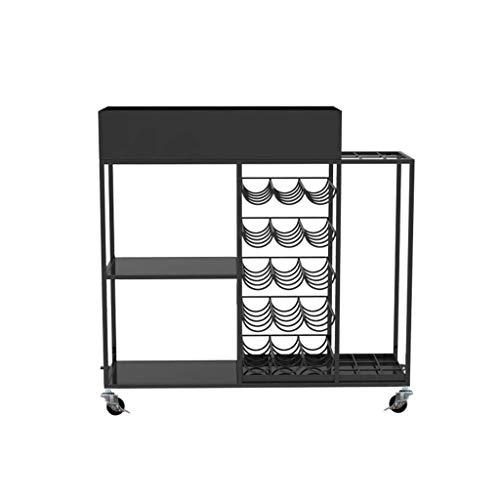 ZXL Soporte para sombrillas Tienda de conveniencia para el hogar Supermercado Restaurante Parrilla de Almacenamiento de Hierro Forjado (Color: A)