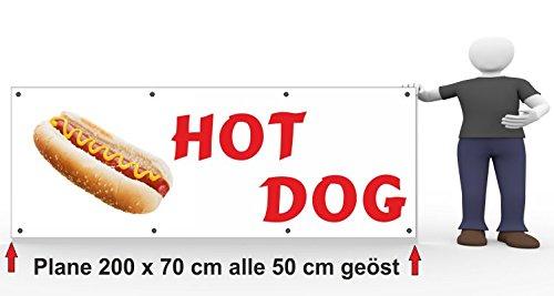 Bannière publicitaire Hot Dog