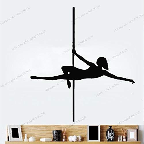 wZUN Etiqueta engomada de la Pared de la Danza del Poste acrobático exótico Etiqueta engomada del Vinilo decoración del Dormitorio 50X61cm