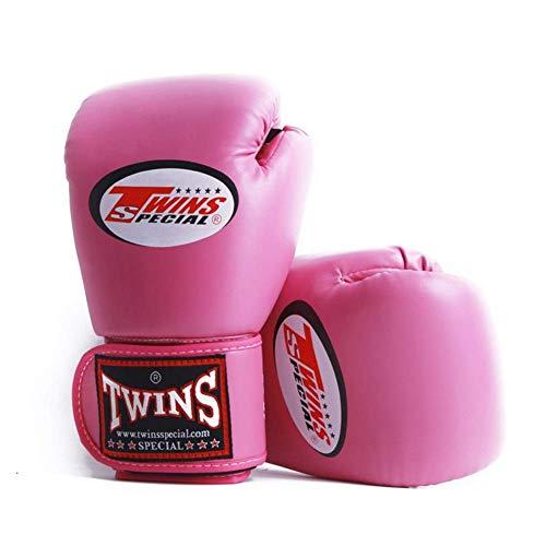 Xiaoyue Boxe Twins Scossa Guanti durevoli for Cuoio Uso a Lungo Termine Karate MMA Guantoni da Boxe Guanti lalay (Color : Pink)
