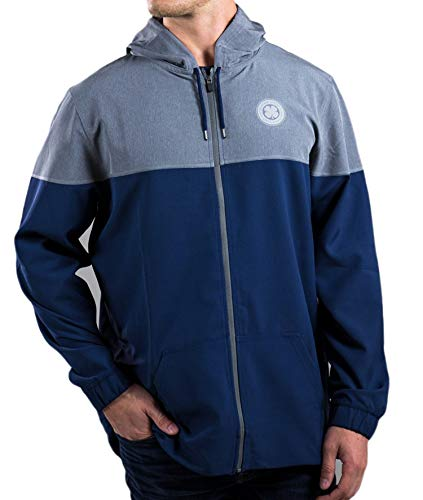 Great Price! Black Clover New Downtown Hoodie Navy/Titanium Grey Men's X-Large (XL) Jacket