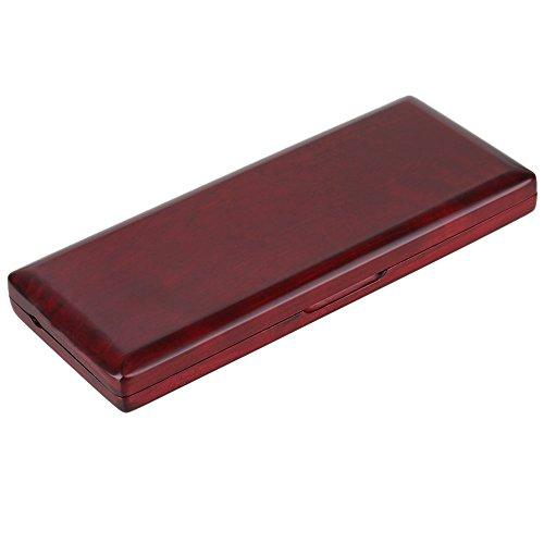 10 Stück Fagott Reed Case Lagerung von Holzschilf Reed Aufbewahrungs Koffer Rot