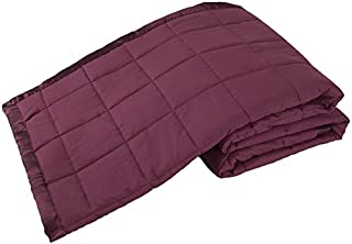 Elite Home Products Down Down Alternative Solid Blankets, Full/Queen, Cabernet