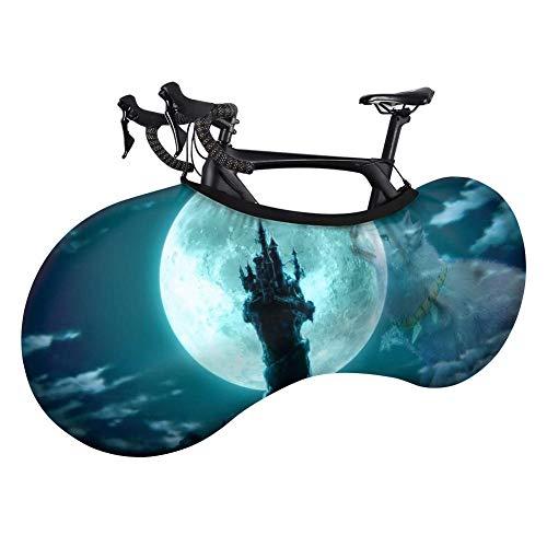 ASADVE Funda Bici Rueda De Bicicleta Bicicletas Montaña Fundas Starry Sky Wolf Print Mochizuki Wolf Bicicleta Cubierta De Polvo Elástica Cubierta De Rueda Interior A Prueba De Suciedad Y Barro