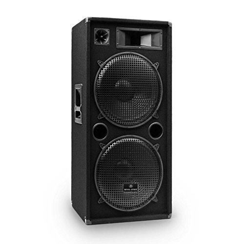 Malone PW-2522 Fullrange PA Box passiver 3-Wege Lautsprecher 1500 Watt max. Leistung 2 x 38 cm (15