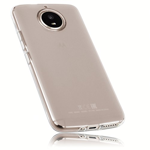 mumbi Hülle kompatibel mit Motorola Moto G5S Handy Hülle Handyhülle, transparent weiss