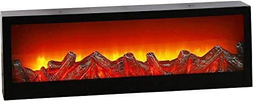 LED Elektro Kamin mit 10 warm weißen LED S und imitiertes Feuer Flackern als Effekt Wandkamin Tischkamin XXL Wand Tisch Kamin Elektrokamin