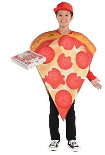 amscan 8400049-55 – Costume de pizza, tunique avec chapeau pour enfant
