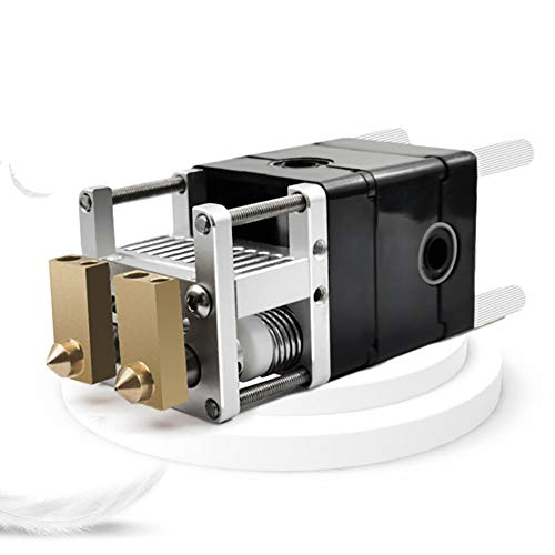 3D Printer Part, Aluminum Alloy Dual Heads Extruder Kit, for 0.4mm 1.75mm Nozzle, Fits for Ultimaker 2 3D Printer