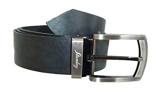 Belt Heavy Leather 1.5 Inches Wide, Black, Waist Adjustable up to 42 Inches, With Free Gift Giving Pouch