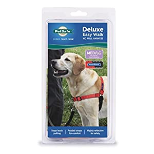 PetSafe Easy Walk Deluxe Dog Harness, No Pull Dog Harness – Perfect for Leash & Harness Training – Stops Pets from Pulling and Choking on Walks – Rose Red