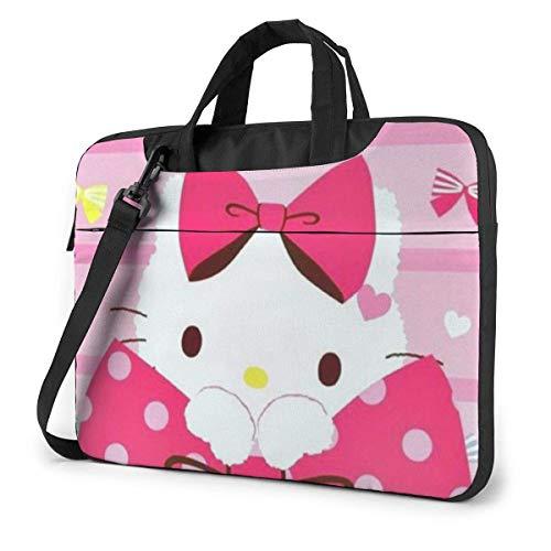 XCNGG Pink Kitty Laptop Bag Business Briefcase for Men Women, Shoulder Messenger Laptop Sleeve Case Carrying Bag- 15.6 Inch