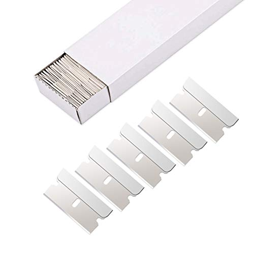 EHDIS 100pcs Razor Blades Single Edge Stainless Steel Razor Blades for Standard Safety Scraper Removing Paint and Decals