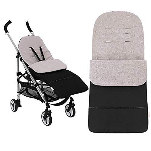 Anntry Footmuff, bolsa de dormir para bebé, universal, para niños pequeños con cochecito, cochecito anexo. Estera para pies. (Gris)