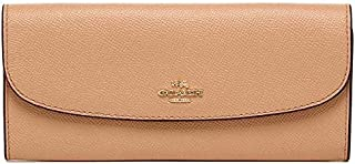Coach F59949 IMA55 Crossgrain Leather Soft Slim Flap Wallet - Nude Pink