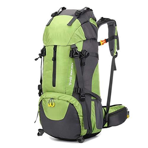 Yhjkvl - Zaino da campeggio da 60 l, impermeabile, per escursionismo, colore: verde