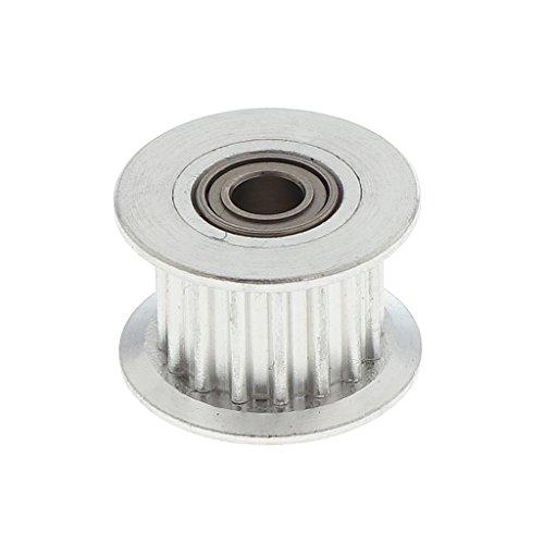 D DOLITY Edelstahl 2GT Zahnriemenrad Zahnrad 3mm Bore Drive Gear für 6mm breit Gurt Zahnriemen 3D Drucker Zubehör