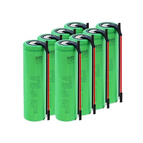 hsvgjsfa Batería De Iones De Litio De 3.7v 18650 3000mah, Batería Recargable De Litio para Soldadura BateríAs De Hoja De níQuel 8pcs