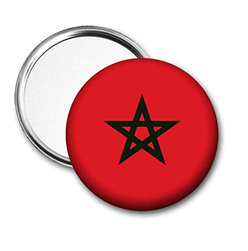 Marokkaanse vlag Pocket Spiegel voor Handtas - Handtas - Gift - Verjaardag - Kerstmis - Stocking Filler - Secret Santa
