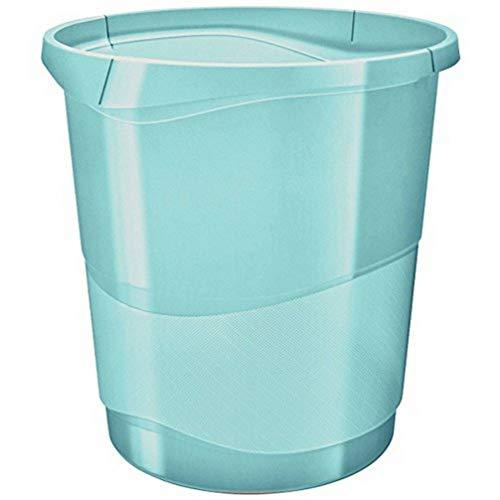 Esselte Corbeille à Papier, 14L, Plastique, Bleu, Colour'Ice, 626289