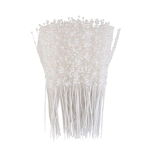 ULTNICE, Mazzo di bastoncini con perle per realizzare composizioni floreali e fiori artificiali per matrimoni e decorazione, 100pezzi
