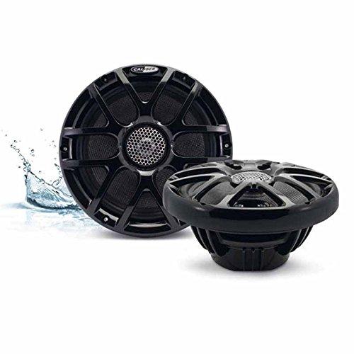 2-Wege Koaxial Marine Lautsprecher schwarz 20cm 200mm / 160Watt max / 80Watt RMS wasserfest RGB LED-Beleuchtung Boot / Sauna / Pool / Yacht / Outdoor Speaker