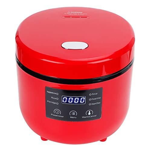 Greensen Reiskocher Elektrischer Reiskochtopf mit Aroma-Klappdeckel 2l inkl Dampfgarer-Einsatz Kleiner Multikocher 6 Programme mit Reislöffel 400W Mini Reiskocher mit Warmhaltefunktion