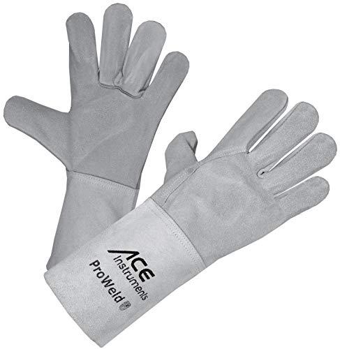 ACE ProWeld Leichter Schweißerhandschuh EN 388 & EN 12477 - Schutzhandschuhe vor Funkenflug, Wärme & Hitze, Größe 11 (XL)