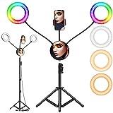 6.6' RGB Selfie Ring Light,...