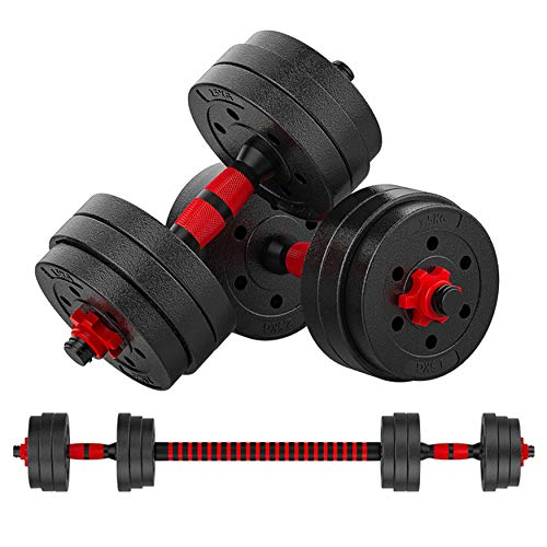 Weights Dumbbells SetAdjustable Dumbbells for Men WomenDumbbells for Weights Lifting ExerciseBarbell Weight Set with Connecting Rod Home Gym Dumbbell Weights Black with 20#039#039 Connecting Rod