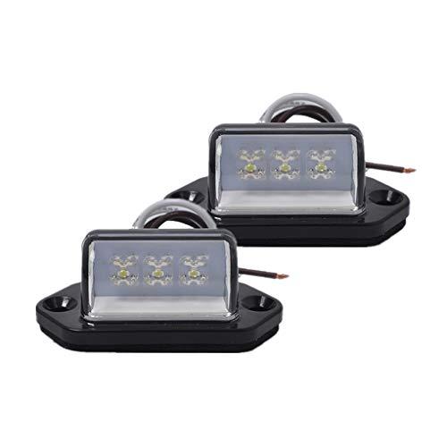 1 paar 3LED kentekenplaatverlichting achterlicht lamp vrachtwagen trailer boot caravan 12V / 24V waterdichte automatische verlichting
