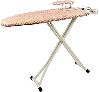 Table à repasser Panneau de repassage compact, avec repose à la vapeur, planche à manches et couvercle en coton, cadre noi...
