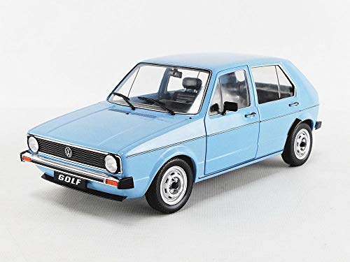 Solido S1800208 1:18 VW Golf L, 1983 421184990-1, blau, Modellauto, Modellfahrzeug