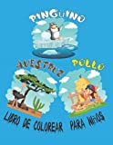 Pollo, Avestruz, Pingüino Libro de colorear para niños: Libro de colorear de pájaros divertidos para niños. Un regalo perfecto para los niños obsesionados con el pollo, el avestruz y el pingüino.
