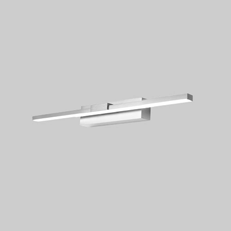 Hyzb Badezimmer-Badezimmer-Spiegel-Scheinwerfer, LED-Badezimmer-Wand-Lampen-Verfassungs-Lichter, Wasserdichte Nebel-Aluminium TriFarbe Lichter (Farbe   Silber, gre   40cm 9W)