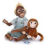21 Pulgadas 52 CM Tan verdaderamente Hecho a Mano Pintura Reborn Monkey Baby Dolls Real Muy Suave Vi...