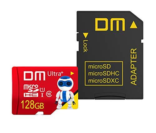 New Net – Tarjeta Micro SD de 128 GB, tarjeta de memoria Ultra SDHC U1 C10 UHS-I de alta velocidad con adaptador para Smartphone Tablet Cámara Digital Switch Gopro Drone Camera ECC