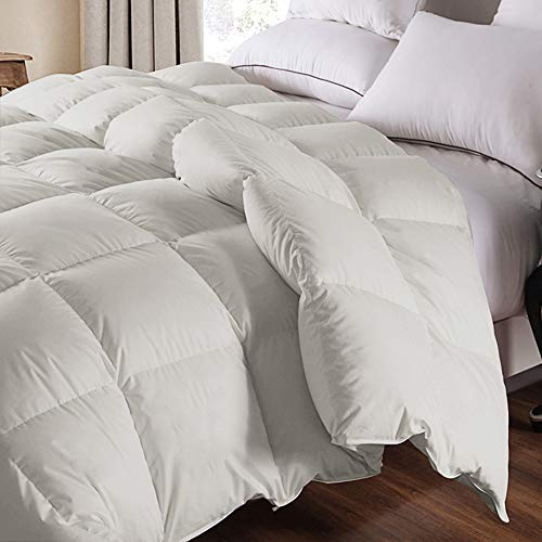 WhatsBedding 100% Cotton Down Comforter Goose Duck Down and Feather...