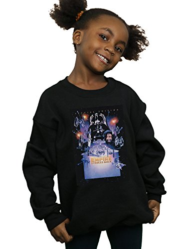 Star Wars Niñas Episode V Movie Poster Camisa De Entrenamiento Negro 5-6 Years
