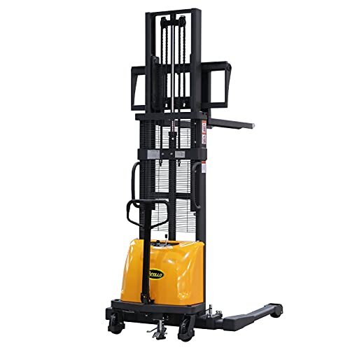 """APOLLO Semi Electric Pallet Forklift Economical Hand Pallet Stacker Lift Jack 3300lbs Capactiy 118"""" Lifting Height"""
