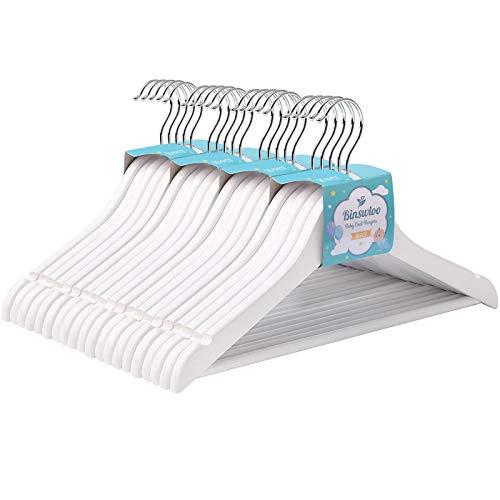 Perchas Madera Blanca Pantalones Marca Binswloo
