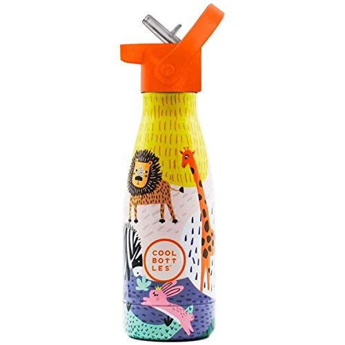 Botella de Agua de Acero Inoxidable | Botella de Agua Infantil | 260 ml | Botella Térmica | Bebidas Frías Durante 24 Horas y Calientes hasta 12 Horas | Aislamiento de Doble Pared | Libre de BPA