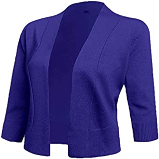 AAMILIFE Women's 3/4 Sleeve Cropped Cardigans Sweaters...