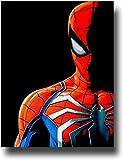 SSKJTC Décoration moderne encadrée Spiderman héros dans le noir Peinture à l'huile pour salon 50,8 x 76,2 cm