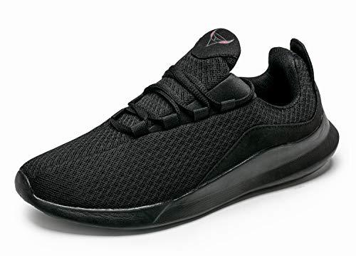 KUTHAENDO Laufschuhe Herren Running Schuhe Sportschuhe Straßenlaufschuhe Sneaker Outdoor Fitness Tennisschuhe Walkingschuhe Trainieren Turnschuhe Joggingschuhe,schwarz,8 UK/ 42.5