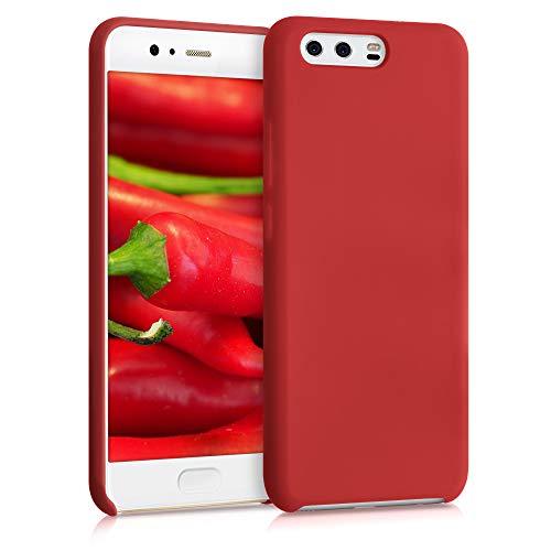 kwmobile Custodia Compatibile con Huawei P10 - Cover in Silicone TPU - Back Case per Smartphone - Protezione Gommata Rosso Scuro